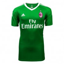 AC Milan Goalkeeper Green Jersey Short Sleeve Men 2017/18