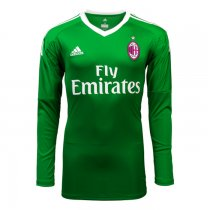 AC Milan Goalkeeper Green Jersey Long Sleeve Men 2017/18