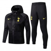Tottenham Hotspur Hoodie Jacket + Pants Training Suit Black 2017/18