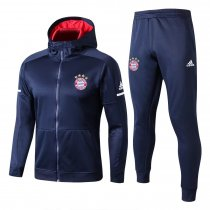 Bayern Munich Hoodie Jacket + Pants Training Suit Royal Blue 2017/18