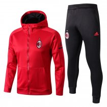 AC Milan Hoodie Jacket + Pants Training Suit Red 2017/18