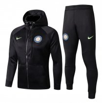 Inter Milan Hoodie Jacket + Pants Training Suit Black 2017/18