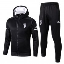 Juventus Hoodie Jacket + Pants Training Suit Black 2017/18