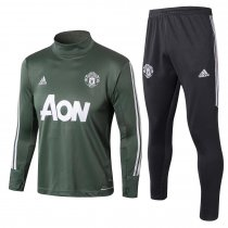 Manchester United Training Suit Turtle Neck Green 2017/18