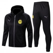 Borussia Dortmund Hoodie Jacket + Pants Training Suit Black 2017/18