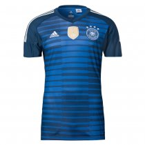 Germany FIFA World Cup 2018 Goalkeeper Blue Jersey Short Sleeve Men's