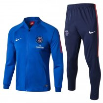 PSG Jacket + Pants Training Suit Low Neck Blue 2017/18