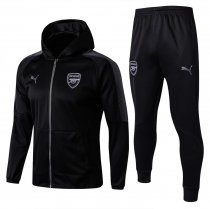 Arsenal Hoodie Jacket + Pants Training Suit Black 2017/18