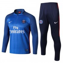 PSG Training Suit Zipper Blue Stripe 2017/18
