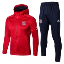 Bayern Munich Hoodie Jacket + Pants Training Suit Red 2017/18