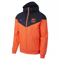 Barcelona Authentic Woven Windrunner Orange Men 2017/18