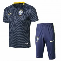 Brazil FIFA World Cup 2018 Short Training Suit Grey Texture