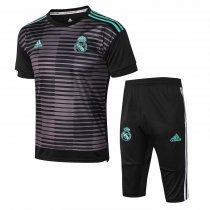 Real Madrid Short Training Suit Black Stripe 2018/19