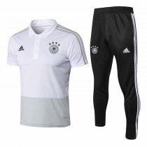 Germany FIFA World Cup 2018 Polo + Pants Training Suit White