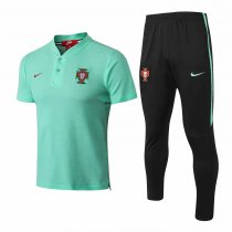 Portugal FIFA World Cup 2018 Polo + Pants Training Suit Green
