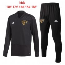 Kids Sao Paulo FC Training Suit VNeck Black 2018/19
