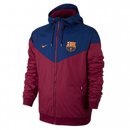 Barcelona Authentic Woven Windrunner Royal Blue Men 2017/18