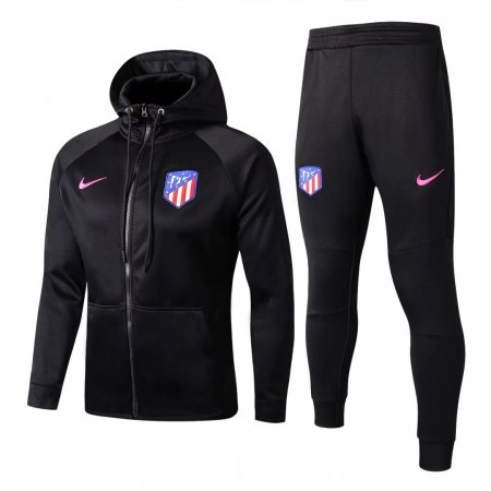Atletico Madrid Hoodie Jacket + Pants Training Suit Black 2017/18