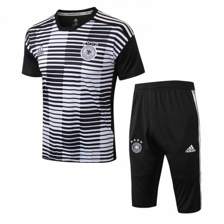 Germany FIFA World Cup 2018 Short Training Suit Black Stripe