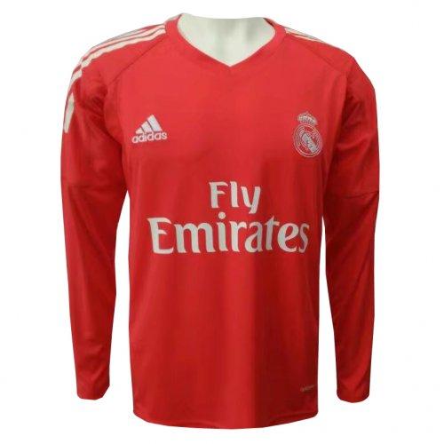 reputable site 9ca62 c2402 US$ 16.8 - Real Madrid Goalkeeper Red Jersey Long Sleeve Men ...