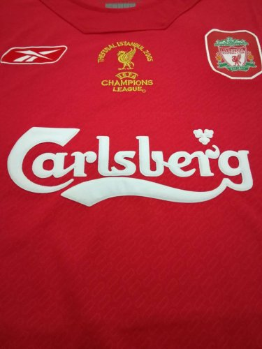 timeless design a004f b4381 US$ 17.8 - Liverpool 2005 UEFA Champion Home Retro Jersey ...