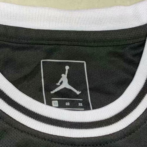 best website 260fa cb248 US$ 14.8 - PSG x Jordan Third Black Basketball Jersey Kids ...