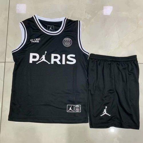 best website 52f8c e485d US$ 14.8 - PSG x Jordan Third Black Basketball Jersey Kids ...