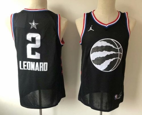 watch c284b a5167 Men's Toronto Raptors Kawhi Leonard 2 Jordan Brand Black 2019 NBA All-Star  Game Finished Swingman Jersey