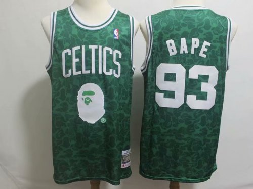 huge selection of fef79 a3cfe Men's Boston Celtics BAPE 93 NBA Jersey