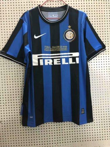 pretty nice d8276 b9ad6 Inter Milan Retro Home Jersey Mens 2009/10