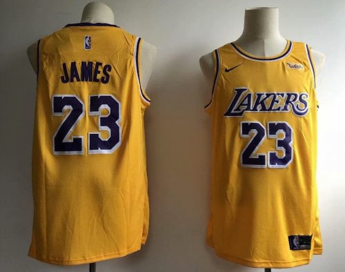 best website 467f6 18844 Men's Los Angeles Lakers LeBron James 23 Nike Gold 2018/19 Swingman Jersey  - Icon Edition