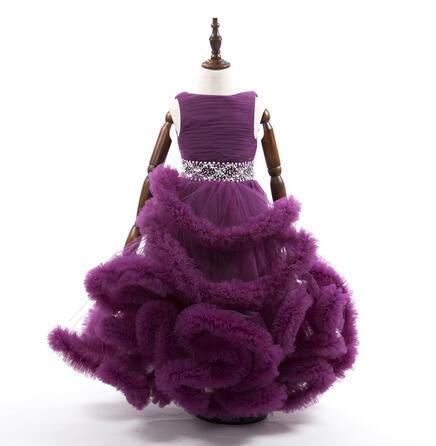 Cloud Little Flower Girls Dresses For Weddings Baby Party Frocks ...