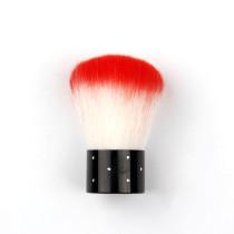 1Pc   6.5*2.6CM Deep Red Mini Nail Art Powder Dust Clean Brush