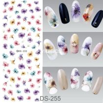 DS247-256  Manicure Watermark Large Sheet Stickers