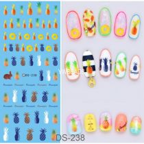 DS223-241 Manicure Watermark Large Sheet Sticker