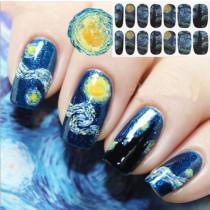14Tips/Pc Blue Sky Nail Art Sticker