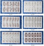 QJ61-76  12Tips Pink Nail Art Tips Stickers