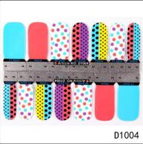 D1003-D1023 14Tips Colorful Butterfly Full Cover Nail Art Sticker