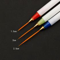 3 Pcs/set Nail Pull Scanning Line Pen
