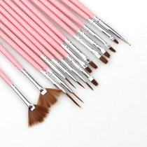 15Pcs/Set Pink And White Nail Art Brush