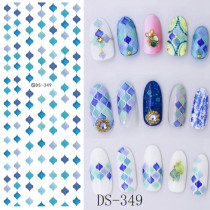 DS345-351 Halloween Series Water Nail Stickers Different Styles
