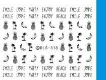DLS-318-322   Pineapple Letter Heart Hippocampus Watermark Sticker