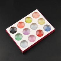 12 Colors/Set  Acrylic 3d Designe Art Coloured Carving Powder