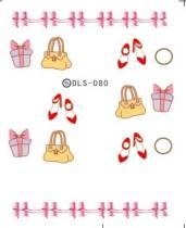 DLS-080-093 Heart Animal Transfer Nail Stickerr