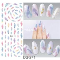 DS257-271  Beautiful Manicure Watermark Large Sheet Sticker