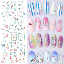 DS321-332  Water Nail Stickers A Variety Of Styles Of Plants