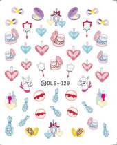 DLS-026-036  Triangle Pattern Heart Harajuku Transfer Small Sheet Stickers