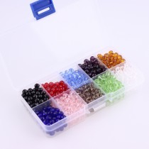 10 Box 6mm About 80Pcs One Color   Round Crystal Pearl Beads
