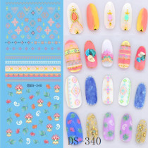 DS333-344  Halloween Series Water Nail Large Sheet Stickers Different Styles