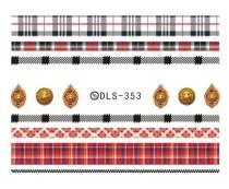 DLS-353-364 Manicure Lattice Stripes Watermark Sticker
